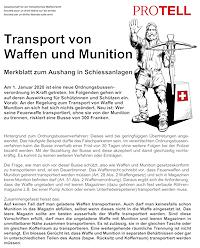 Transport von Waffen und Munition